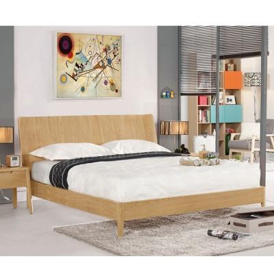 群居空間-琥珀斯白橡5尺雙人床架-(不含床墊)