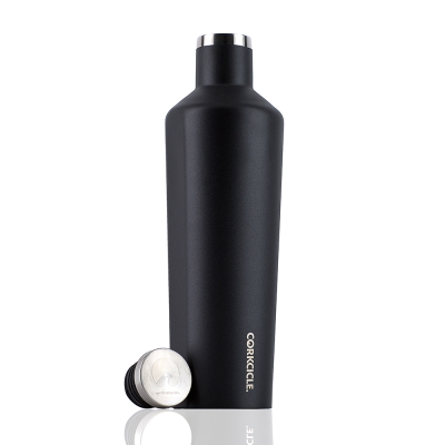 CORKCICLE 酷仕客Waterman戶外系列三層不鏽鋼易口保溫瓶-740ml (消光黑)