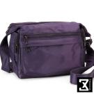 74盎司 素面尼龍多功能收納斜背包[TG-068]紫