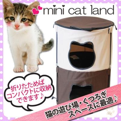 IRIS 摺疊貓咪遊樂場-貓臉雙層DCC1303A 1入