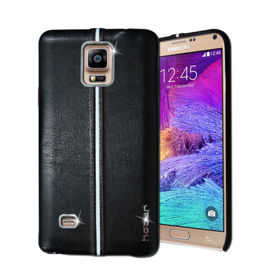 HOCAR Samsung Galaxy Note4 爵士皮革保護手機殼(曜黑)