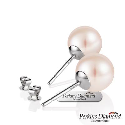 PERKINS 伯金仕 7-7.5mm 14K金 天然珍珠耳環