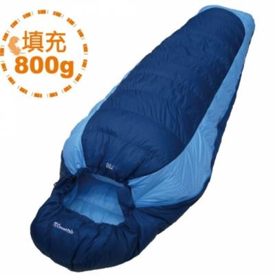100MOUNTAIN 羽絨睡袋 800G 藍