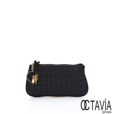 OCTAVIA-真皮-編織萬用零錢包