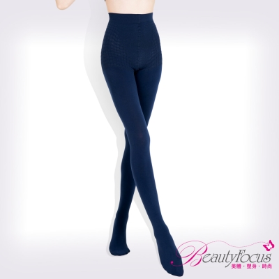 BeautyFocus-按摩感顯瘦褲襪-深藍
