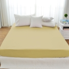 Cozy inn 簡單純色-奶茶金-200織精梳棉床包(雙人)