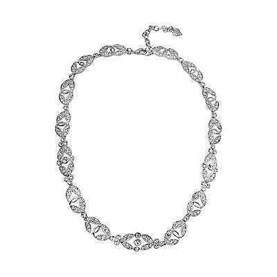 CAROLEE 歐美品牌 閃耀晶鑽葉片項鍊
