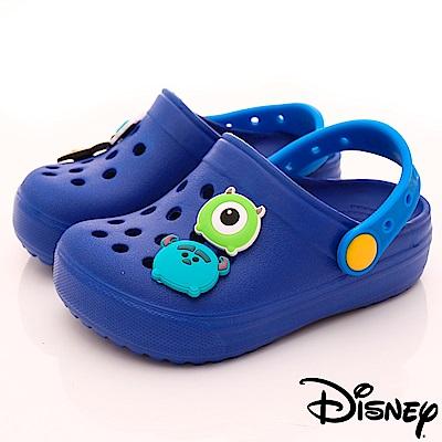 迪士尼童鞋 TSUMTSUM洞洞涼鞋款-FO18314藍(小童段)
