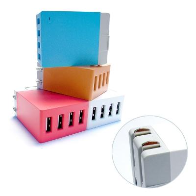 QLA 2.1A/4USB充電器/大電流旅充頭/電源供應器