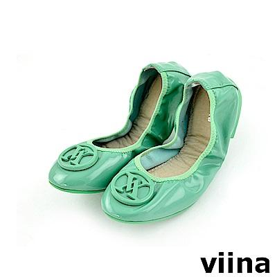 viina 經典款烤漆扣摺疊鞋MIT-綠色