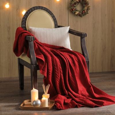 MONTAGUT-針織毛線毯(紅)