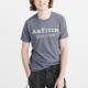 A&F 經典刺繡文字短袖T恤-灰藍色 AF Abercrombie product thumbnail 1