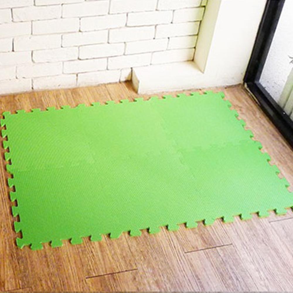 【新生活家】抗菌地墊32x32x1cm 陽光綠6入