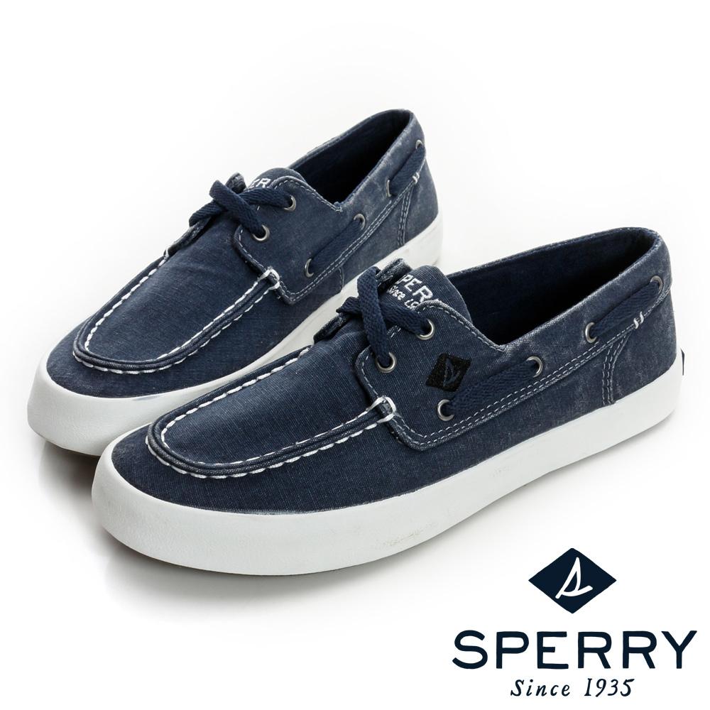 SPERRY 輕量水洗帆船鞋(女)-藍