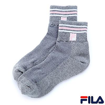 FILA 基本款半毛巾短襪-灰 SCS-1001-GY