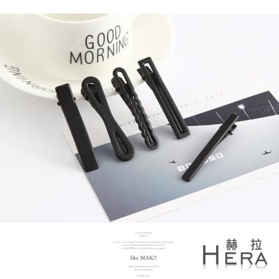 Hera 赫拉 黑色磨砂盤髮工具邊夾/髮夾/五入組