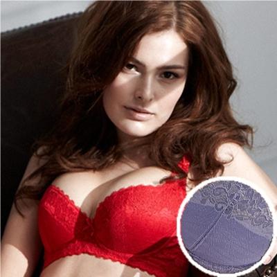 羅絲美內衣 - 女神風範3/4罩剪接款B-D罩杯內衣 (浪漫紫)