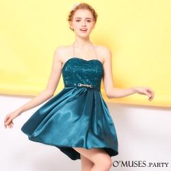 蕾絲緞伴娘小禮服-OMUSES