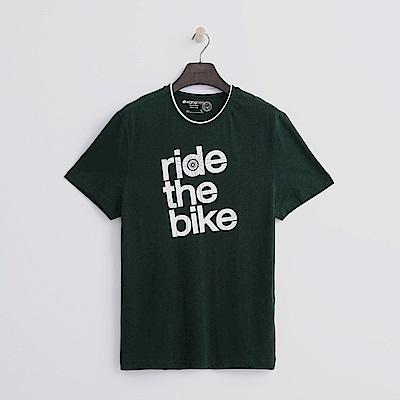 Hang Ten - 男裝 - 有機棉 單車環遊T恤-綠色