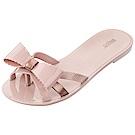 Melissa 交叉帶蝴蝶結夾腳鞋-粉紅