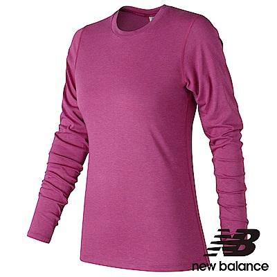 New Balance 花紗長袖T恤 AWT73127PRH 女性 紫色