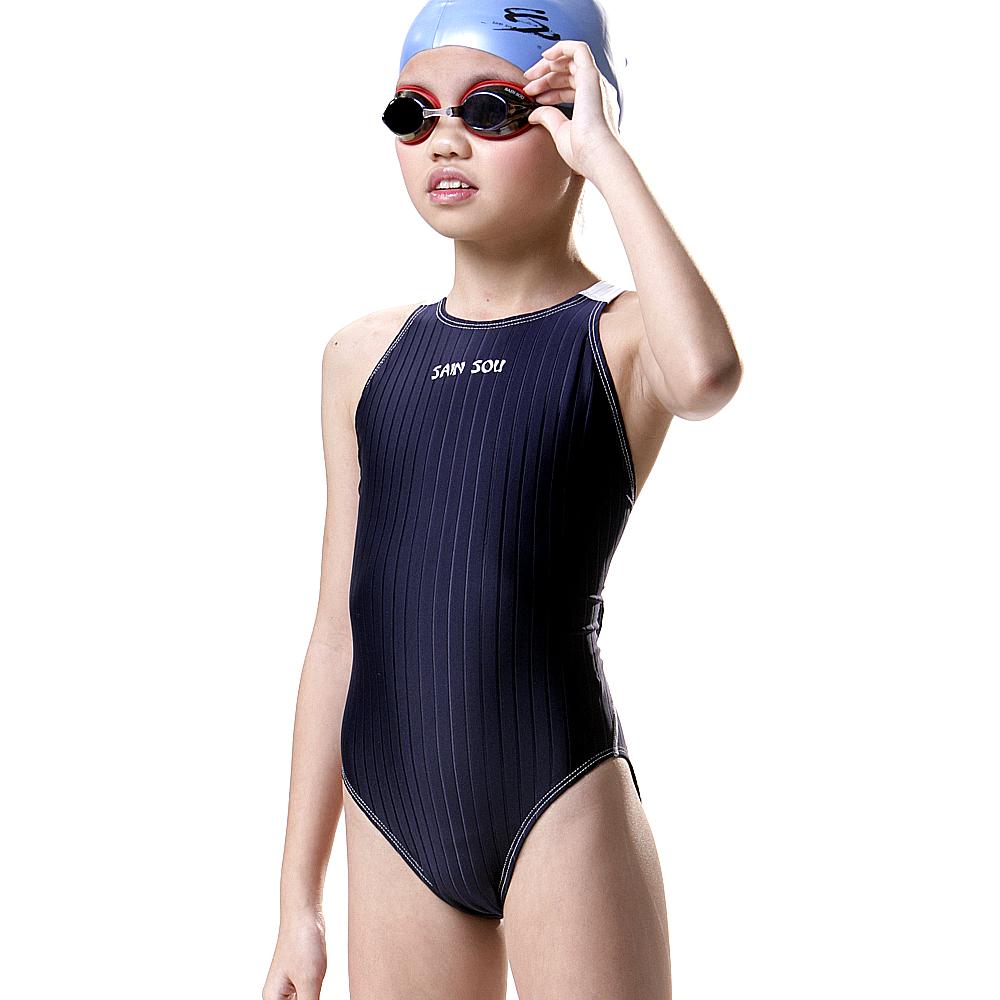 聖手牌 兒童泳裝 連身式女童專業泳裝