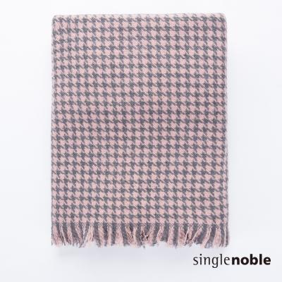 獨身貴族 前衛魅力千鳥格紋抽鬚設計圍巾(3色)