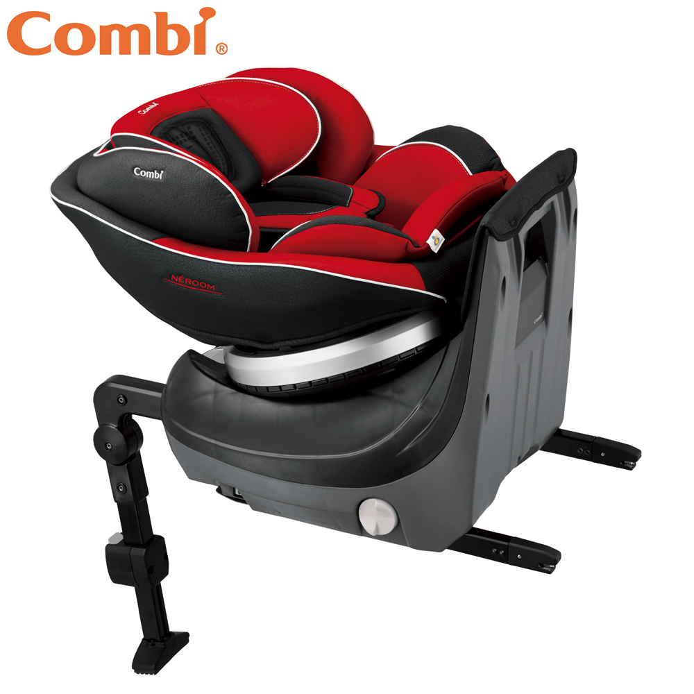 Combi Neroom Isofix新世代旗艦型旋轉式汽車安全座椅 伯爵紅