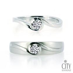 City Diamond『白色戀人』鑽石對戒