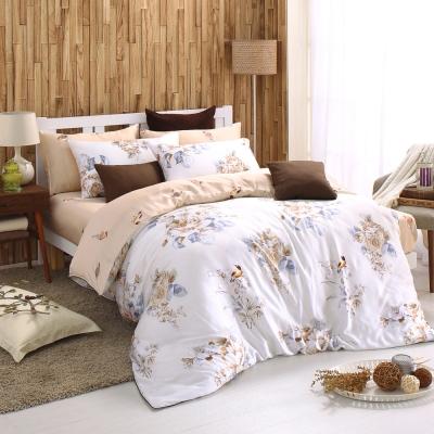 MONTAGUT-知更鳥之歌-天絲-加大四件式兩用被床包組