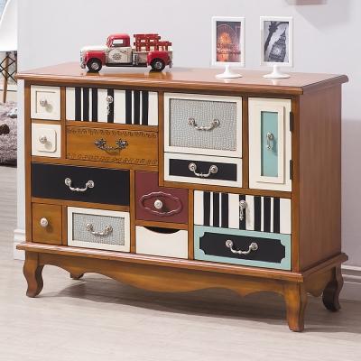 Bernice 布魯克仿舊3.6尺十二抽造型置物櫃/收納櫃
