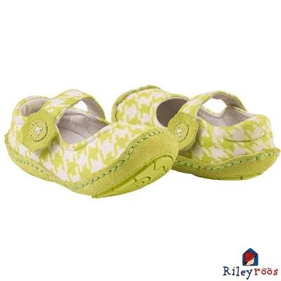 Rileyroos 美國手工童鞋學步鞋-蘋果綠千鳥格紋