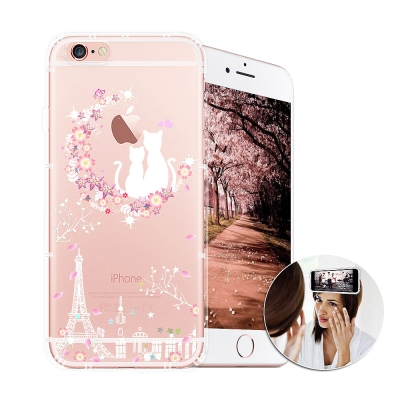 EVO反重力 iPhone 8/iPhone 7 亮粉空壓手機殼(星月祝福)