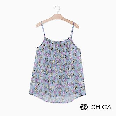 CHICA 夏日花園細肩印花背心(2色)