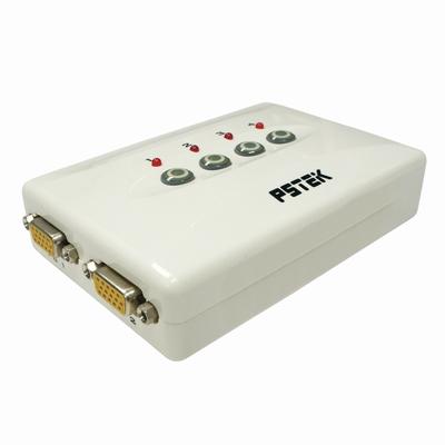 Pstek VSS-104 4埠VGA視訊螢幕切換器