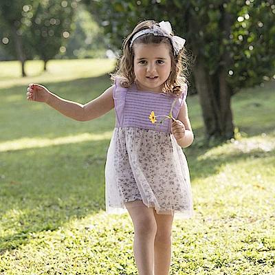 PIPPY 小花外罩紗網洋裝 紫