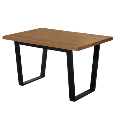 居家生活 艾利克4.3尺胡桃色黑腳餐桌