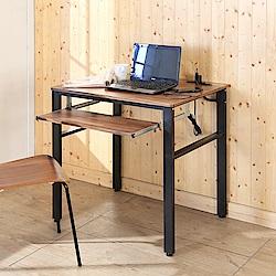 BuyJM工業風低甲醛防潑水80公分單鍵盤附插座工作桌80x60x79公分-DIY