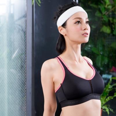 華歌爾 享運動 機能型 M-LL 運動內衣(健美黑)