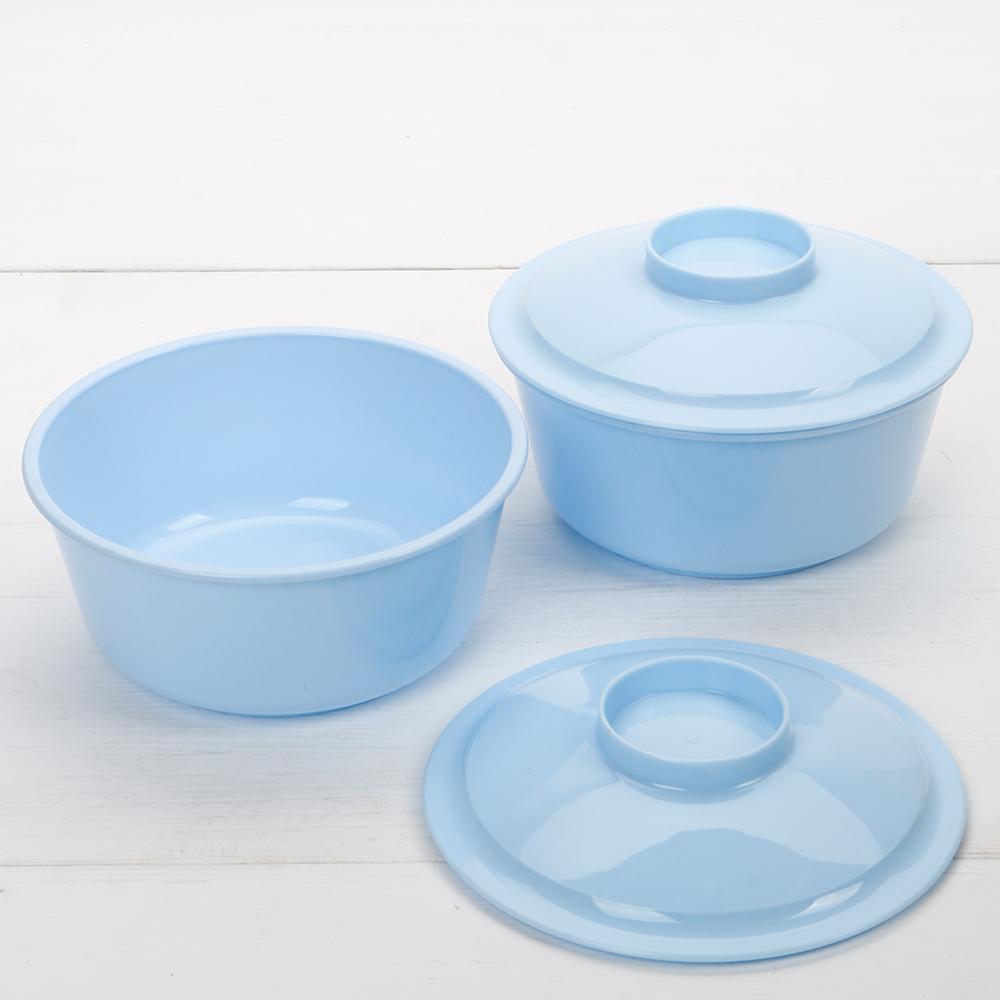 HIKARI日光生活  環保微波大湯碗(2入) / 附蓋 / 顏色隨機