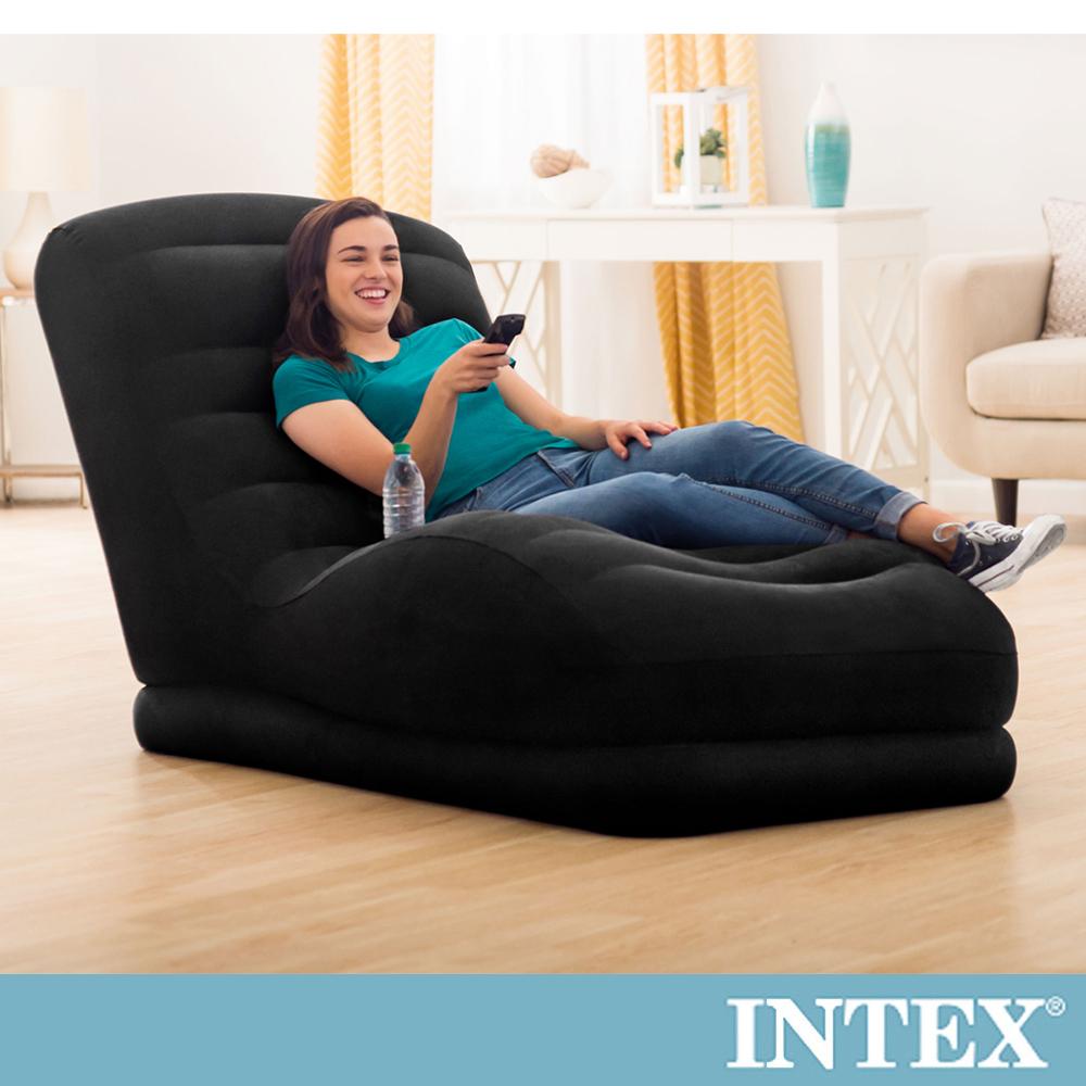 INTEX S曲線加長懶人充氣躺椅(68595)