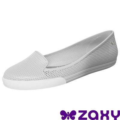 【ZAXY 巴西】城市休閒平底樂福鞋 (漸層灰)