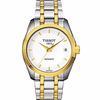 TISSOT天梭 Couturie建構師優雅機械女錶T0352072201100-32mm