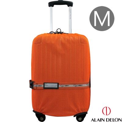 ALAIN DELON 彈性網狀旅行箱保護套M(亮橘)