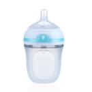 Nuby 寬口徑防脹氣矽膠奶瓶150ml(0M+)