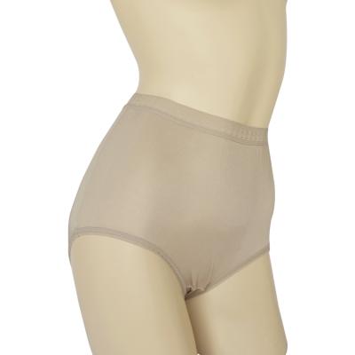 三角褲 100%蠶絲蕾絲高腰內褲2件組M-XL(銀灰) Seraphic
