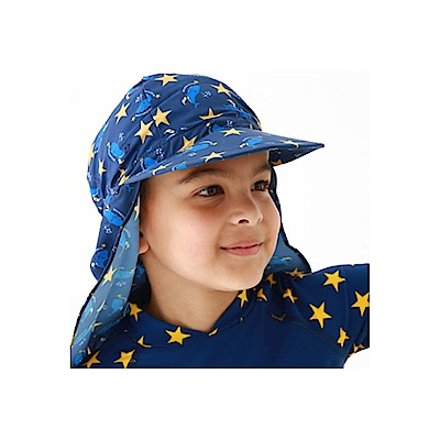 Biki比基尼妮泳衣   兒童帽防曬遮陽遮脖帽海邊帽子