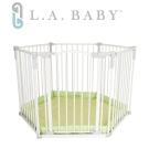 【美國 L.A. Baby】 多功能兒童安全圍欄(黃綠色)
