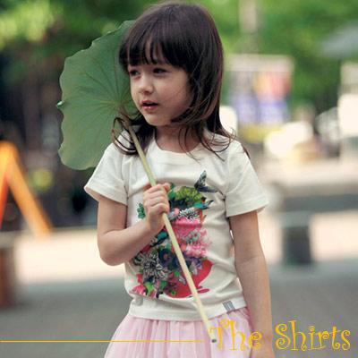 【The Shirts】彩色小花園短袖T恤 (共二色)