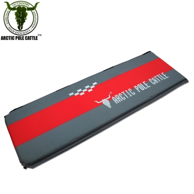 APC 豪華加厚可拼接自動充氣睡墊(190*60*厚5cm)-紅灰配色